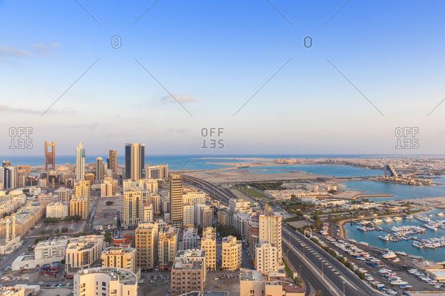 November 29, 2014: City skyline, Manama, Bahrain, Middle East