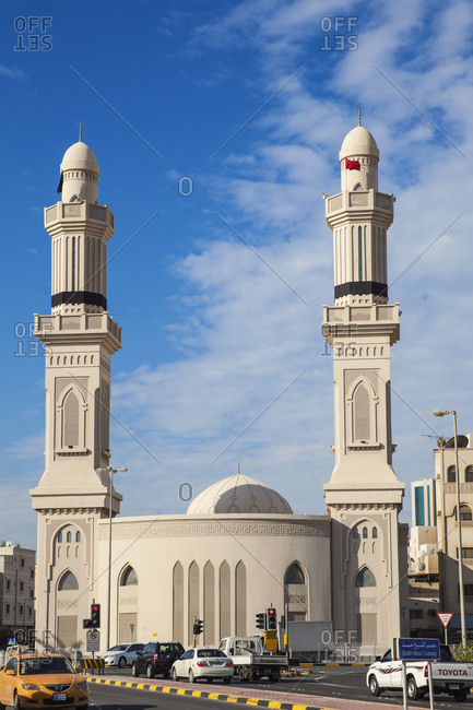 December 1, 2014: Ras Ruman Mosque, City Center, Manama, Bahrain, Middle East