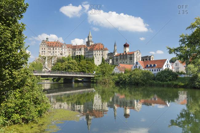 Sigmaringen Castle, Upper Danube Valley, Swabian Jura, Baden-Wurttemberg, Germany, Europe