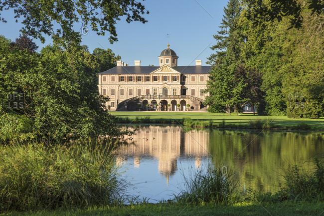June 17, 2019: Schloss Favorite castle, Rastatt, Black Forest, Baden-Wurttemberg, Germany, Europe