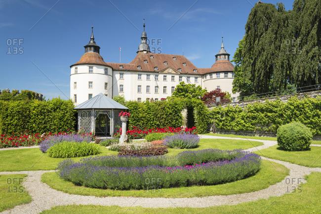 June 18, 2019: Schloss Langenburg Castle, Langenburg, Hohenlohe, Baden-Wurttemberg, Germany, Europe