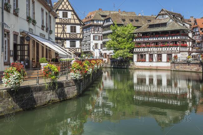 July 19, 2018: Maison des Tanneurs, La Petite France, UNESCO World Heritage Site, Strasbourg, Alsace, France, Europe