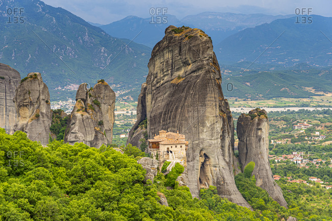 Holy Monastery of Rousanou, UNESCO World Heritage Site, Meteora Monasteries, Greece, Europe