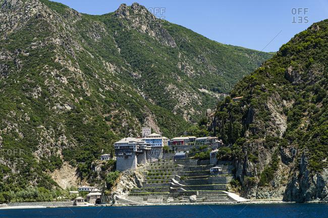Agiou Pavlou Monastery, UNESCO World Heritage Site, Mount Athos, Central Macedonia, Greece, Europe