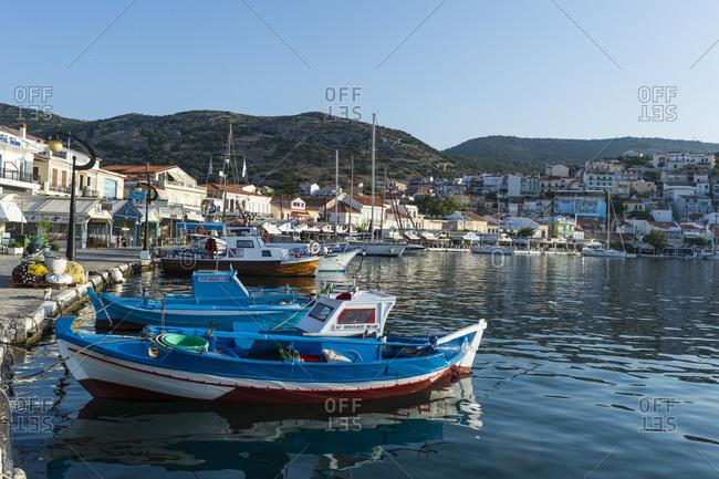 June 22, 2020: The port of Phytagoteio, Samos, Greek Islands, Greece, Europe