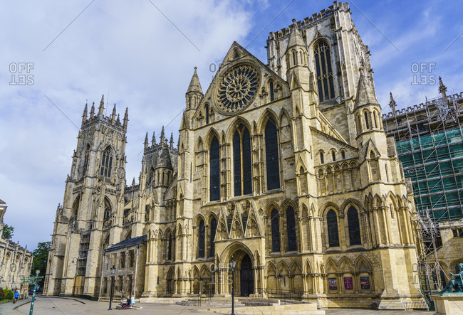 July 23, 2020: York Minster, one of the largest medieval cathedrals in Europe, York, North Yorkshire, England, United Kingdom, Europe