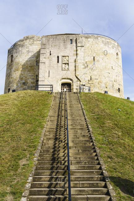 Clifford's Tower, York Castle, York, North Yorkshire, England, United Kingdom, Europe