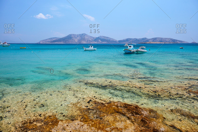 Koufonisi island, Keros island in the background, Koufonisi, Cyclades Islands, Greek Islands, Greece, Europe