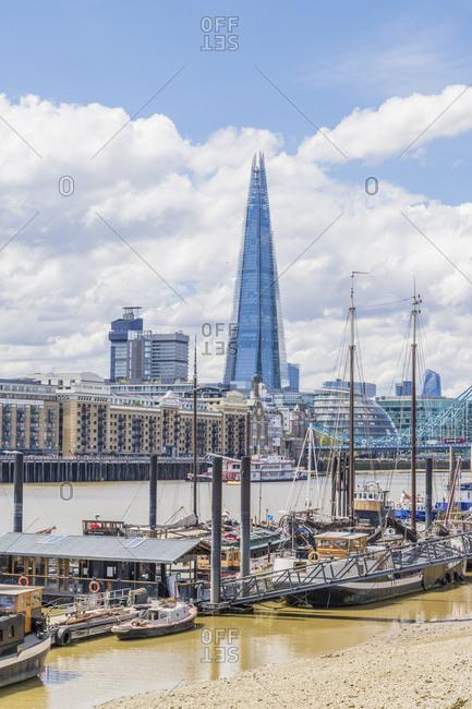 The Shard, Tower Bridge and River Thames, London, England, United Kingdom, Europe