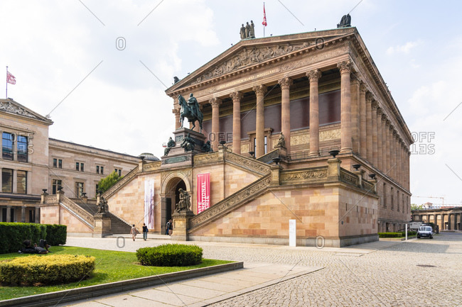August 28, 2019: Alte Nationalgalerie Museum for historic paintings in Museums Island, UNESCO World Heritage Site, Berlin, Germany, Europe