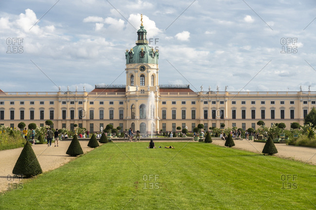August 10, 2019: Charlottenburg Palace in summer, Berlin, Germany, Europe