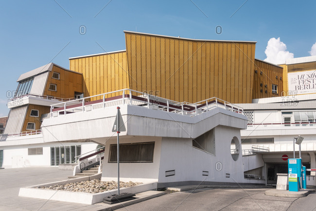 August 27, 2019: Berliner Philharmonie Concert Hall by Potsdamer Platz square, Berlin, Germany, Europe