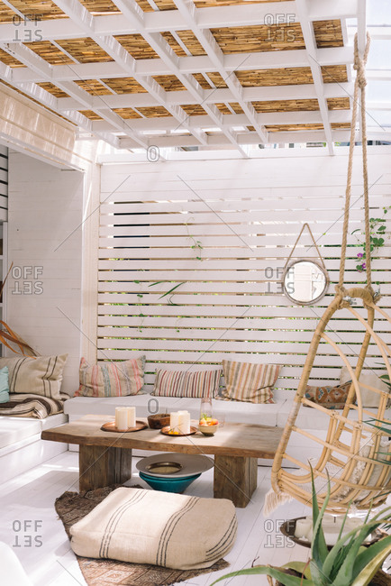 Beautiful boho styled terrace
