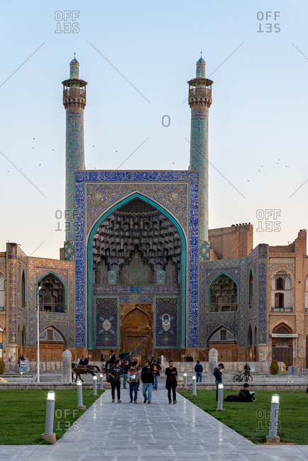 March 3, 2018: People walking at the Royal Square in Isfahan, Iran