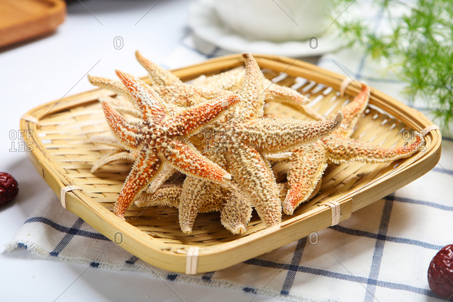 A small amount of starfish dry