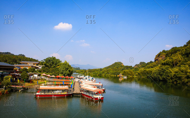 October 11, 2019: Shaoguan, guangdong danxia mountain scenery