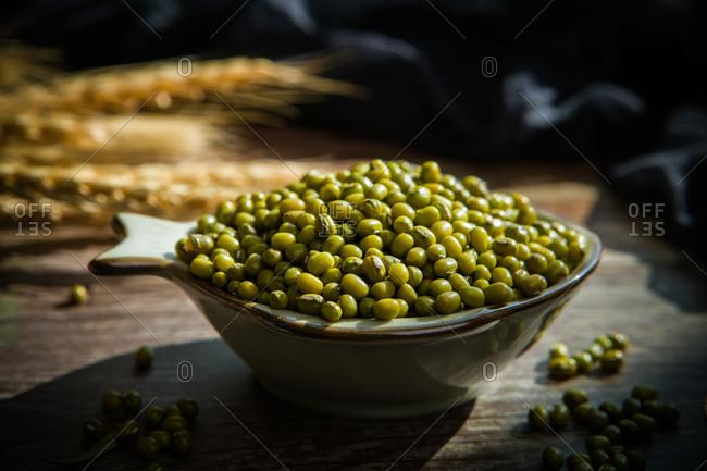 Mung bean shot with detail