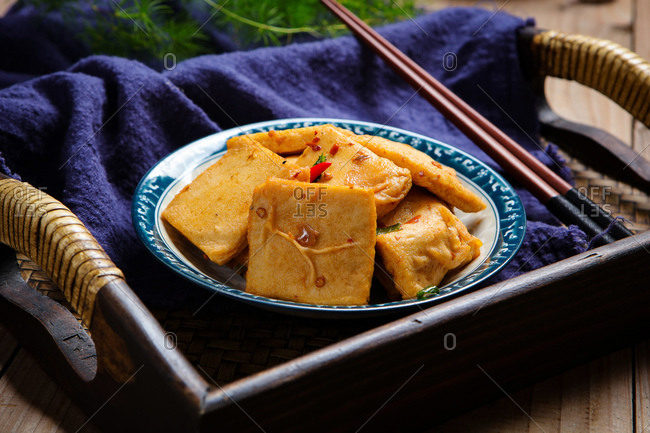 Chinese cuisine chiba tofu ready to eat