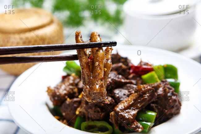A plate of Fried duck