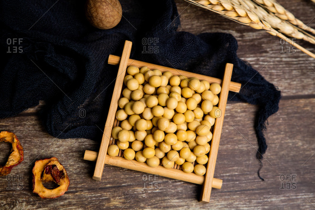 Close up shot of a soybean