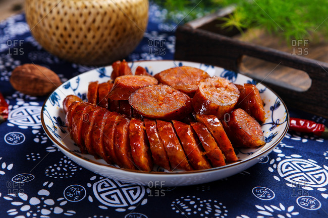 A small amount of delicious sausages