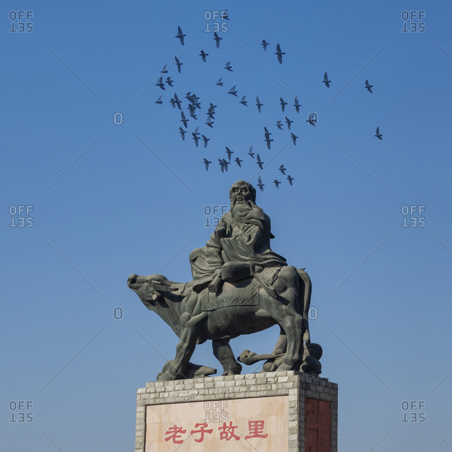 January 22, 2019: Bozhou city in anhui province guoyang county days still palace, Lao tze sculpture