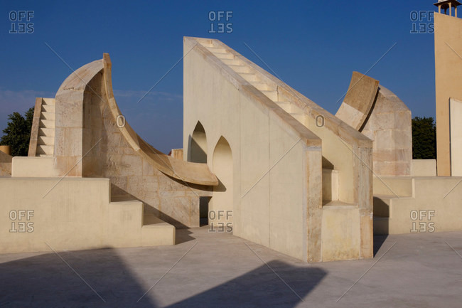 August 11, 2020: Jantar Mantar, observatories in Jaipur, Rajasthan, India