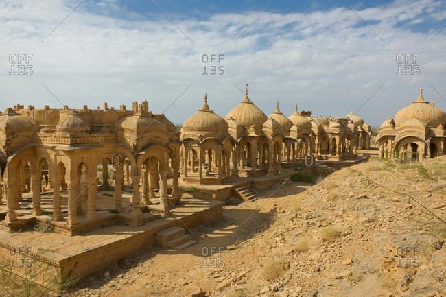 Bada Bagh Tombs near Jaisalmer, Rajasthan, India