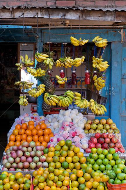Fruit stall in Kathmandu, Nepal