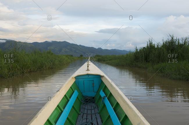 Boat on Inle Lake, Shan State, Myanmar