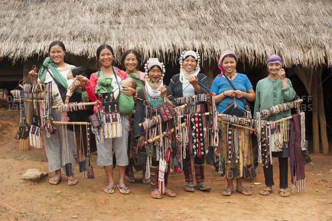 September 7, 2013: Ahkha tribe, Shan State, Keng Tung, Burma