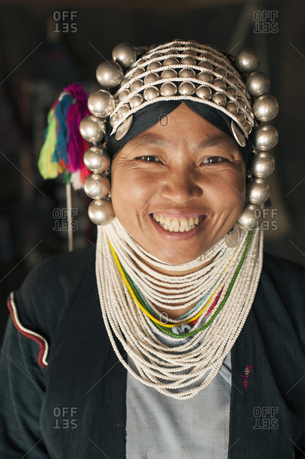 September 7, 2013: Portrait of Akha tribeswoman, Shan State, Keng Tung, Burma