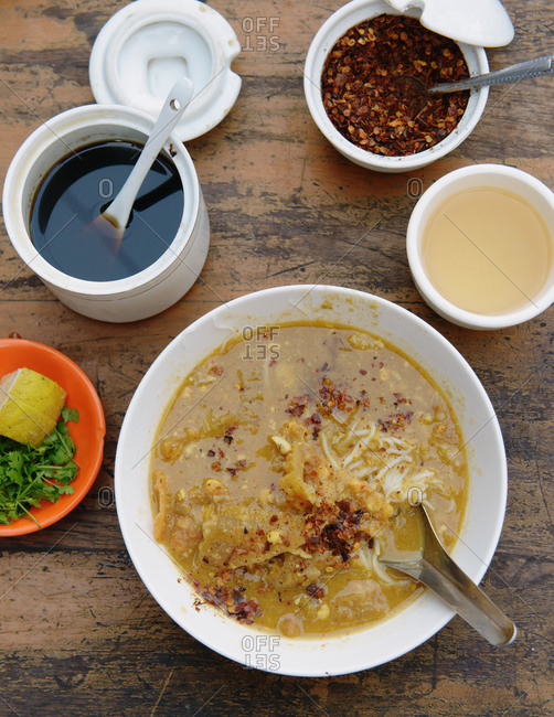 Close up of breakfast for one, Burma