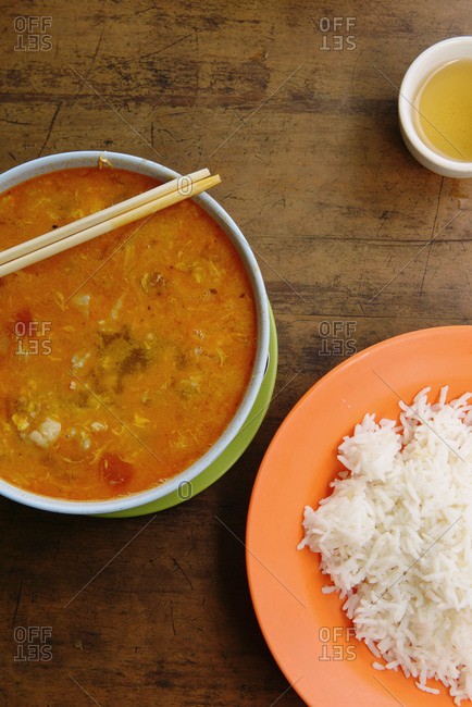 Close up of lunch for one, Burma