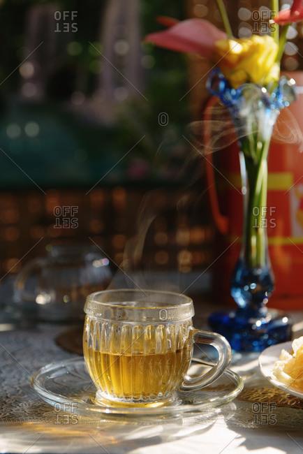 Still life of breakfast tea, Nyaung Shwe, Inle Lake, Burma