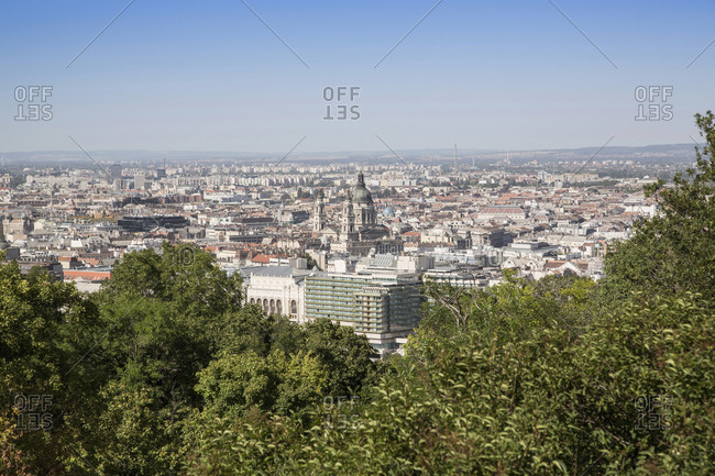 Aerial view of city, Budapest, Hungary