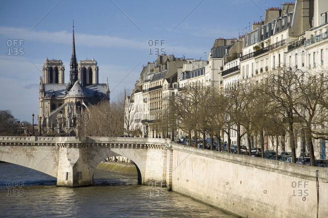 Notre-Dame Cathedral, Seine, Paris, France