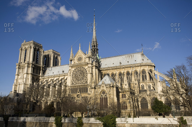 January 12, 2008: Notre-Dame Cathedral in Paris, France