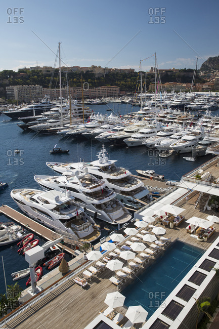 September 25, 2014: View of modern luxury yacht club, Monte Carlo, Monaco