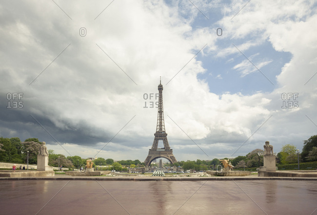 May 26, 2010: Eiffel Tower in distance, Paris, France