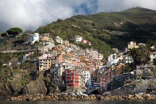 October 19, 2014: Riomaggiore houses in Cinque Terre, Italy