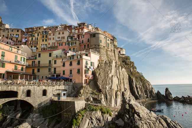 October 19, 2014: Town of Manarola, Cinque Terre, Italy
