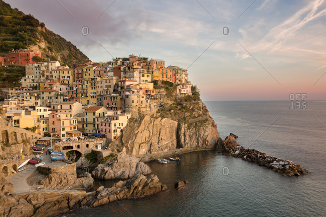 Town of Manarola, Cinque Terre, Italy