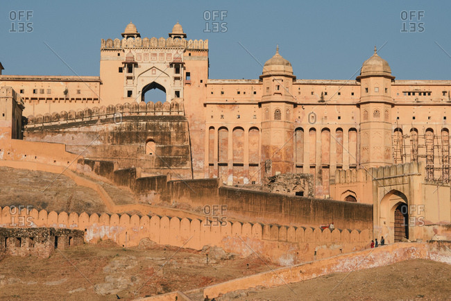 View of Amer Fort Palace, Jaipur, Rajasthan, India