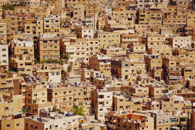 Crowded city of Amman, Jordan