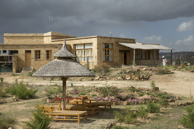 Exterior to Agoro lodge, near Adigrat, Tigray Region. Ethiopia, Horn of Africa