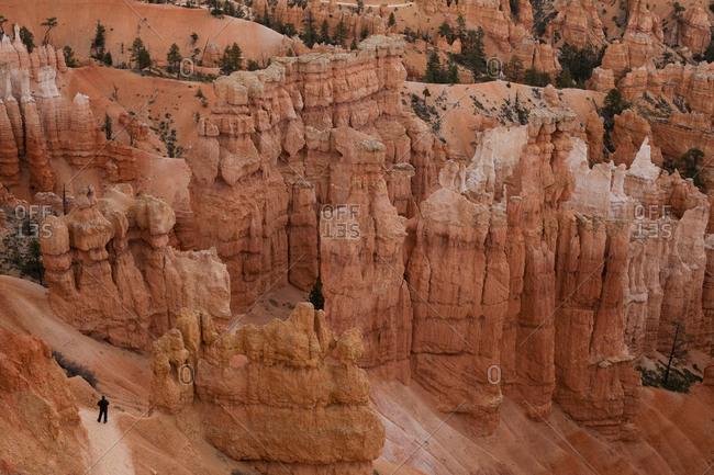 High angle view of Bryce Canyon, Bryce Canyon National Park, Utah, USA