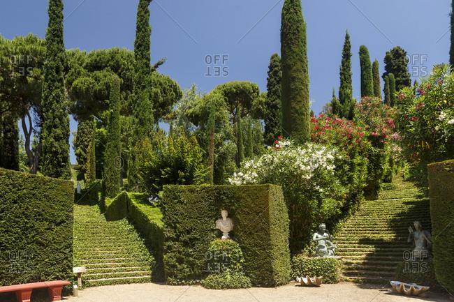 June 25, 2015: Santa Clotilde Gardens in Lloret de Mar, Costa Brava, Spain
