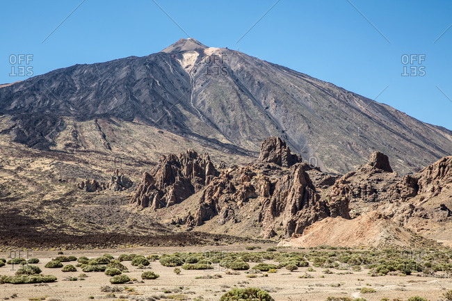 Mountain in Teide national park, Tenerife, Canary Islands, Spain