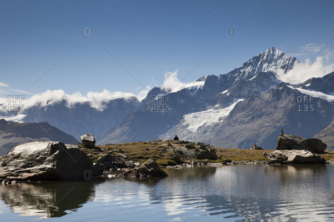 Lake, Matterhorn, Swiss Alps, Switzerland